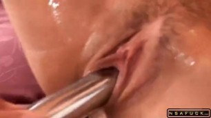 Big breasted German whore gets fucked rough by three guys