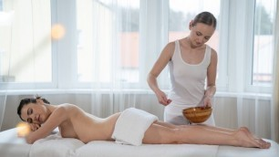 Massageroom - Sensual Body Massage For Shy Woman Hayli Sanders And Lady Bug
