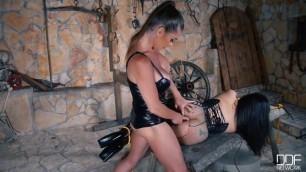 DDFnetwork Tigerr Benson Cathy Heaven Prisoner Humiliation Milfs Cram Pussy Ass With Strap On