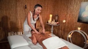 Massageroom - Asian And Latina Share Orgasmic Joy Sharon Lee And Venus Afrodita