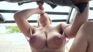 Lena Paul Natural Gal Gets Paid for Blowjob Public Pick Ups hot big natural boobs Mofos