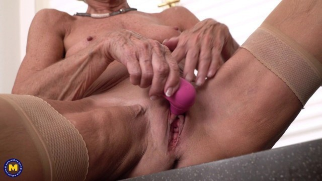 Romana Hungarian Granny loves solo masturbation