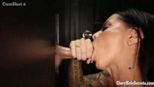 Brandy Aniston Second Glory Hole fucking machine GloryHoleSecrets