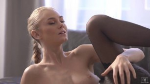 NubileFilms Nancy A Sexy Babe In Stockings Shows Strip Tease