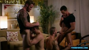 Gay Porn Video Clips Large Penis Son Foursome With Sex Cream Flow