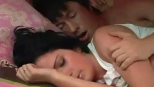 Brother forces sleeping brunette sister for sex FLV