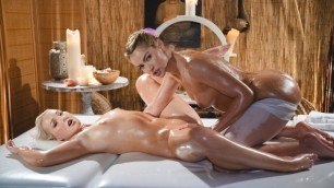 MassageRoom - Young Blonde Lesbians Cherry Kiss And Lovita Fate Hot Wet Sex