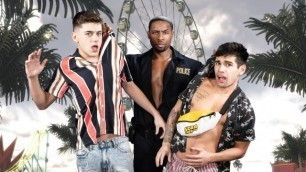Ty Mitchell, Joey Mills And DeAngelo Jackson In Top Of The Fair Ass Wheel