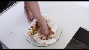 Beautiful Girl Norah Nova fucking in the kitchen Feet In A Cake LoveHerFeet