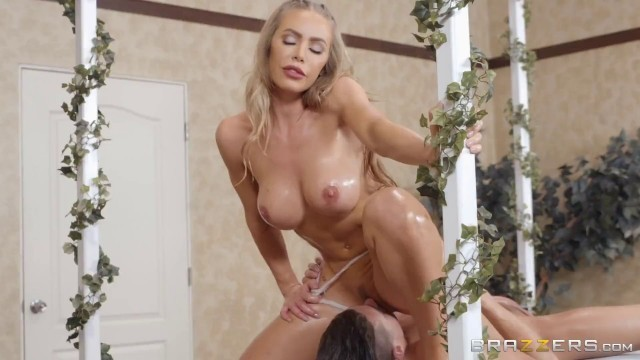 Getting Off On The Job takes a dick between tits Nicole Aniston Xander Corvus