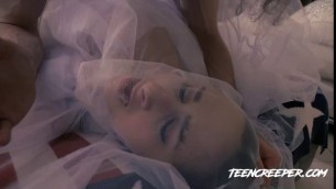 TeenCreeper Ashley Adams Cristi Ann Blonde and Brunette Bridal Bang E10