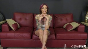 WildOnCam Busty Woman Anna Bell Peaks Panty Licking Good