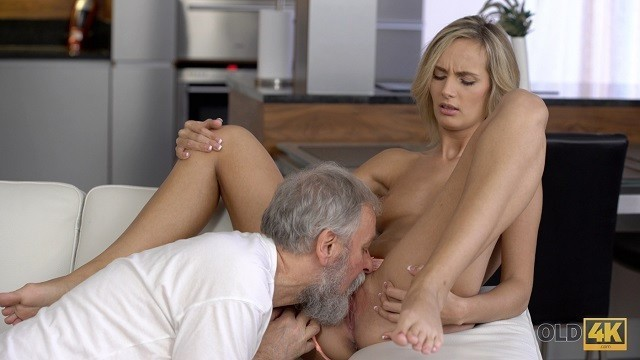 OLD4K. old Dad Pushes Dick into Juicy Teen Pussy of Blonde Dollface
