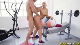 Briana Bounce cheating bride sex videos Working Out With Briana Topless Handjob