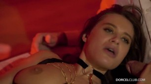Lana Rhoades hot girl sucking cocks in DP Porn DorcelClub