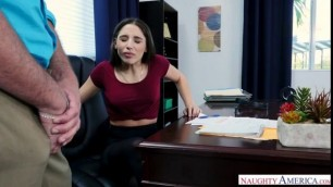 NaughtyAmerica Abella Danger to slap your cock out on your bosss desk NaughtyOffice