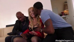 BlacksOnCougars Brandi Love mature pussy stretched by dick like