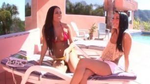 Hottest pornstars Sabrina Banks and Gianna Nicole in horny rimming