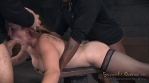 sexuallybroken Bella Rossi girl in black stockings fuck hard