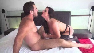 Delightful Angela White pink pussy porn