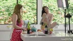 Twistys Jade Baker Lena Paul hot nude girls Cooking Show Conundrum WhenGirlsPlay