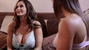 Abella Danger and Ava Addams at Mommys massive breasts