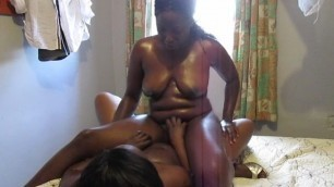 Black Lesbians In Lingerie Fucking with Dildo