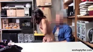 Shoplifter Jasmine Grey please dudes cock