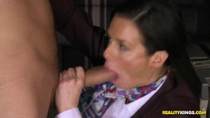 Tanya Tate and Veronica Avluv - Two Babes In Uniform Fucked By Two Guys