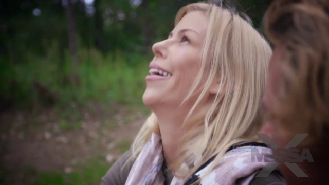 Alluring Blonde Alexis Fawx in The Getaway V Camping Edition Outside
