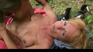 french mendy outdoor park anal threesome