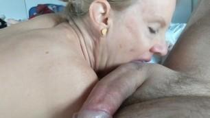 Jon's wife sucking his cock!