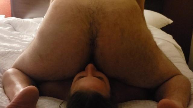 Chubby sub slut gets face farted by her boyfriend