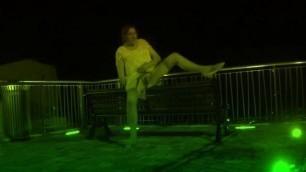 transgender travesti anal dildo lingerie  outdoor road 25