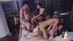 ValeNappi Beautiful Girls Emily Willis, Milana May And Ana Foxxx [Epic Orgy]