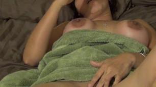 After her shower