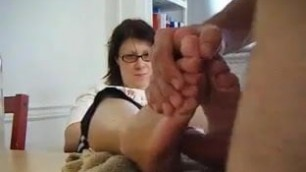 Mom Allows Son To Fuck Her Feet