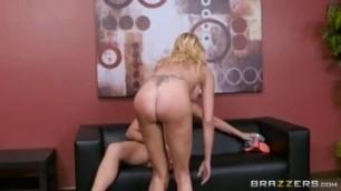 Briana Banks Blonde If The Bra Fits sucking my dick