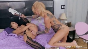 Brazzers Scared Un-Straight Sexual Girls Bonnie Rotten Gina Valentina Hot Mean Lesbian