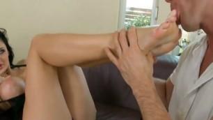 big tits footjob sex Aletta Ocean Footsiebabes