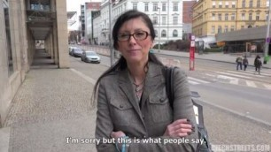 He took off his mature aunt on Czech streets 92 Milf Public