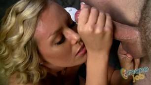 Manojob Sexy Blonde Nicole Aniston Nicoles Facial Blast