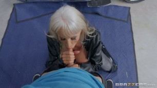 Insatiable Blonde Sally D'Angelo Bad To The Granny Bone BrazzersExxtra